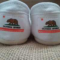 Tom Henry_ CALIFORNIA FLAG custom made women canvas shoes | multiple colors