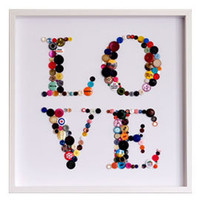 Heal's | Hello Geronimo Love Buttons Framed Art > Graphic