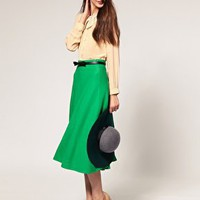 ASOS | ASOS Midi Skirt With Full Swing Hem at ASOS