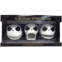 Nightmare Before Christmas Jack Hanging Heads 3 Count