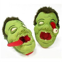Bobble Heads UK. Zombies Afoot Plush Slippers