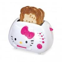 Hello Kitty KT5211 2-Slice Wide slot toaster with cool Touch Exterior