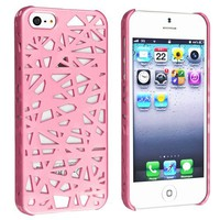 eForCity Snap-on Case Compatible with Apple® iPhone® 5, Pink Bird Nest Rear