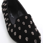 Black Faux Suede Skull Studded Casual Loafer Flats @ Amiclubwear Flats Shoes online store:Women&#x27;s Casual Flats,Sexy Flats,Black Flats,White Flats,Women&#x27;s Casual Shoes,Summer Shoes,Discount Flats,Cheap Flats,Spring Shoes,Cute Flats Shoes,Women&#x27;s Flats Shoe