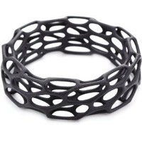 "Nervous System ""Porous"" Black Nylon Bangle Bracelet Size Medium"