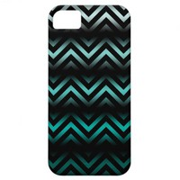 Aqua Ombre Chevron iPhone 5 Cases from Zazzle.com