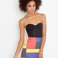 Faded Colorblock Skirt in  Clothes at Nasty Gal
