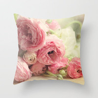 the first bouquet Throw Pillow by Sylvia Cook Photography | Society6