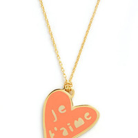 Corked Necklace in Heart | Mod Retro Vintage Necklaces | ModCloth.com