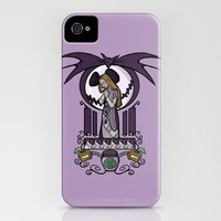 Nightmare Nouveau iPhone Case by Karen Hallion Illustrations | Society6