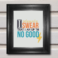 Harry Potter Solemnly Swear Digital Print