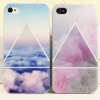 Scrub Blue/Pink Cloud Case for iPhone 4 4S from http://www.looback.com/