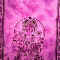 Ganesh Tapestry Purple