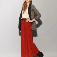 Rust maxi skirt [Der3855] - $59 : Pixie Market, Fashion-Super-Market