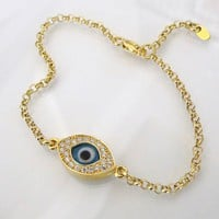 Lucky Evil Eye Bracelet As Seen On Kim Kardashian And Kelly Ripa