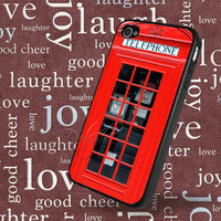 Unique! Red British Phone Booth HD Printing iPhone 4S 4 4G Case Cover T0191 B