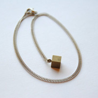 Tiny Cube Necklace - Christmas Gifts Under 25 - Handmade Jewelry - Free Shipping in the US