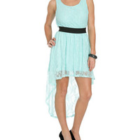 Lace Elastic High-Low Dress | Shop Just Arrived at Wet Seal
