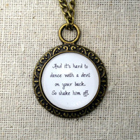 Florence and the Machine Shake It Out Inspired Lyrical Quote Necklace