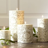 Florentine Deer Pillar Candles