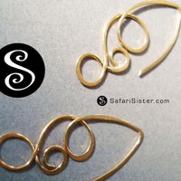 SafariSister Minerva Earrings or Earwire Earring by safarisister