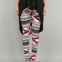 Ethnic Print Leggings