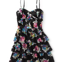 Floral Tier Woven Dress