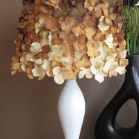 Brown and Cream Handmade Flower Lamp Shade 
