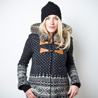SMYTHE Fair Isle Duffle Coat