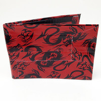 Dragon Red and Black Duct Tape Wallet