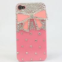 Amazon.com: Nova Case® 3D Crystal iPhone Case for AT&T Verizon Sprint Apple iPhone 4/4S Pink Bow: Cell Phones & Accessories