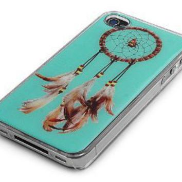 Clear Snap-On Clear iPhone Cover Case for 4/4S iPhone - DREAMCATCHER LOGO DESIGN - Height:4.5 Inches X Width: 2.5 Inches X Thickness:0.5 Inches.