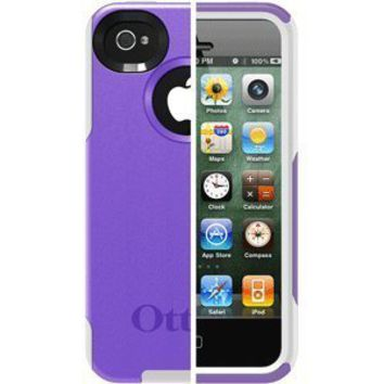 OtterBox Commuter Series Case for iPhone 4/4S  - Retail Packaging - Purple/White