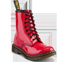 1460 WOMENS RED PATENT LAMPER
