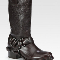 Miu Miu - Leather Harness Boots