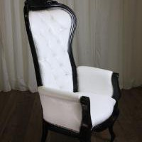 www.roomservicestore.com - Riviera Wing Chair with Arms (White with Black)