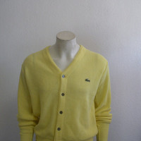 Vintage Izod Lacoste Cardigan Sweater