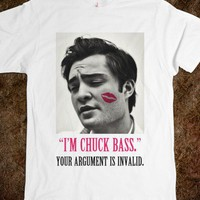 Chuck Bass Quote Kiss Tee - shine on