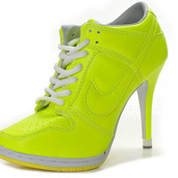 Discount Yellow Nike Dunk High Heels,2011 New Yellow High Heels Nike Dunk For Women