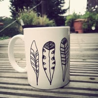 Feather mug by Mr Teacup by MrTeacup on Etsy