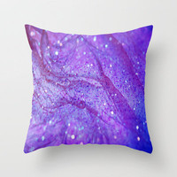 Chiffon & Glitter Throw Pillow by Veronica Ventress | Society6