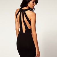 ASOS | ASOS Bodycon Dress Slash Back at ASOS