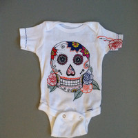 Newborn size baby Onesuit hand painted 'henna' style by HennaBella1