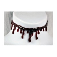 Amazon.com: Thick Blood Drip Choker Goth Horror Monster Fx Gore: Everything Else