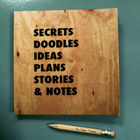Secrets &amp; Doodles Notebook by smeurer8 on Etsy