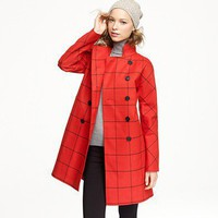 Women&#x27;s outerwear - trenches - Mackintosh?- Rousay tattersall coat in wool - J.Crew
