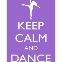 Rikki KnightTM Keep Calm and Dance On - Violet Color White Hard Case Cover for Apple iPhone® 4 & 4s