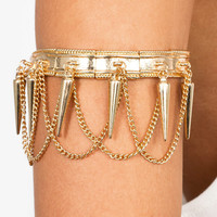 spiked-chain-arm-cuff GOLD SILVER - GoJane.com