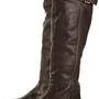 DENVER Chocolate High Leg Buckle Boots - Boots - Shoes - Topshop USA