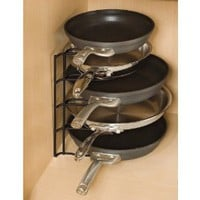 Amazon.com: Rubbermaid FG1H4209BLA Pan Organizer Rack, Black: Home & Kitchen